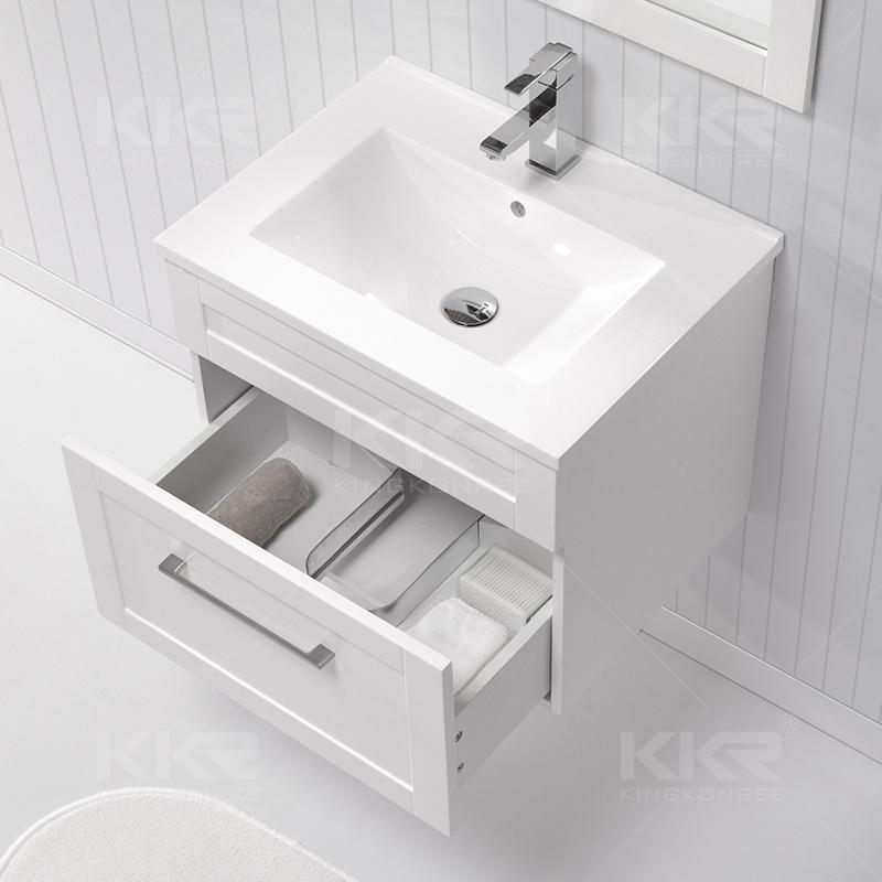 Modern Furniture Solid Surface Bathroom Cabinet Wash Basin (B170418)