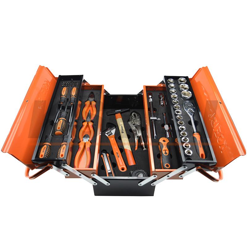 2017 Tool Box 5 Compartments Machinist Tool Set 72 PCS