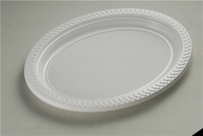 Shape 4 Easylife Various Disposable PS Plastic Round Plate