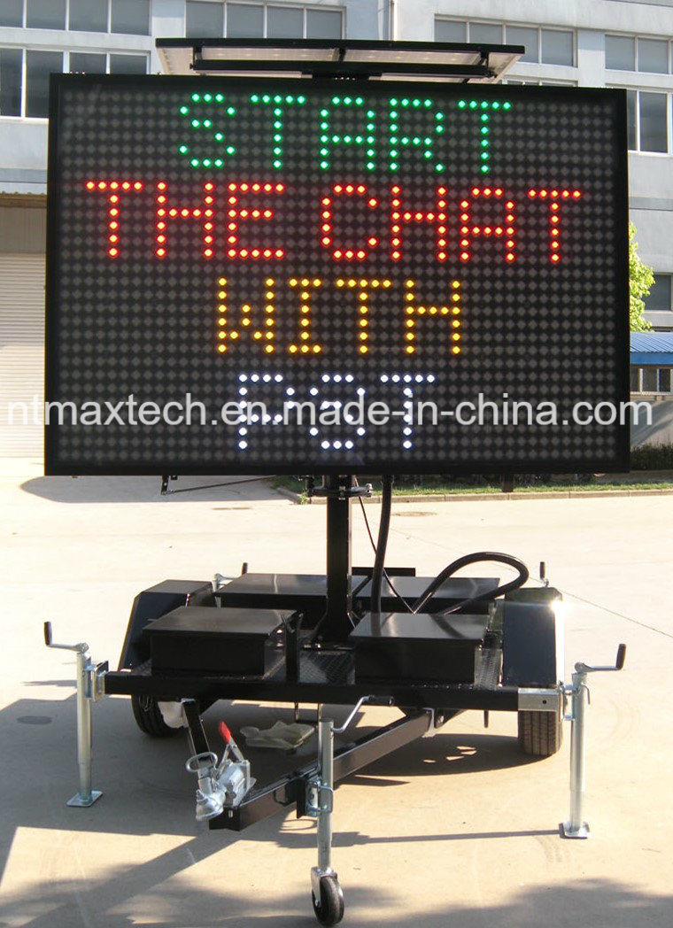 Maintenance Free Mobile Multi Colour Variable Message Traffic Sign for Traffic Management
