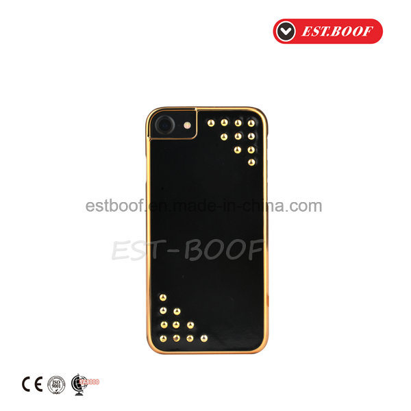 Leather Phone Case with Electroplate+Fashion Studs Design/iPhone Case