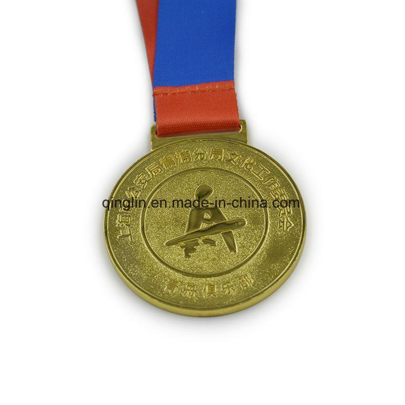 Hot Selling Custom Round Shape Gold Plated Medallion