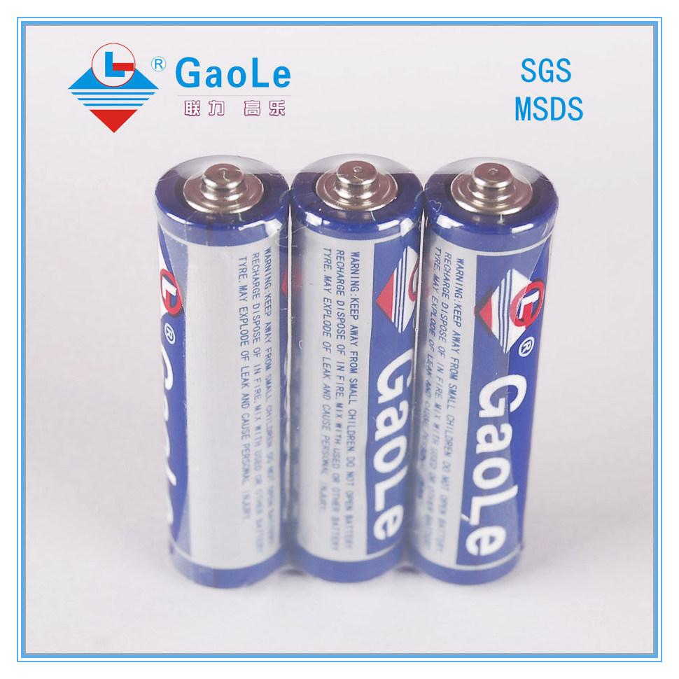 1.5V Super Power Cheap R6 AA Battery (3PCS/Shrink Pack)