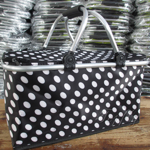 Waterproof Thermal Insulation Basketry with Aluminum Handle and Satin Foam