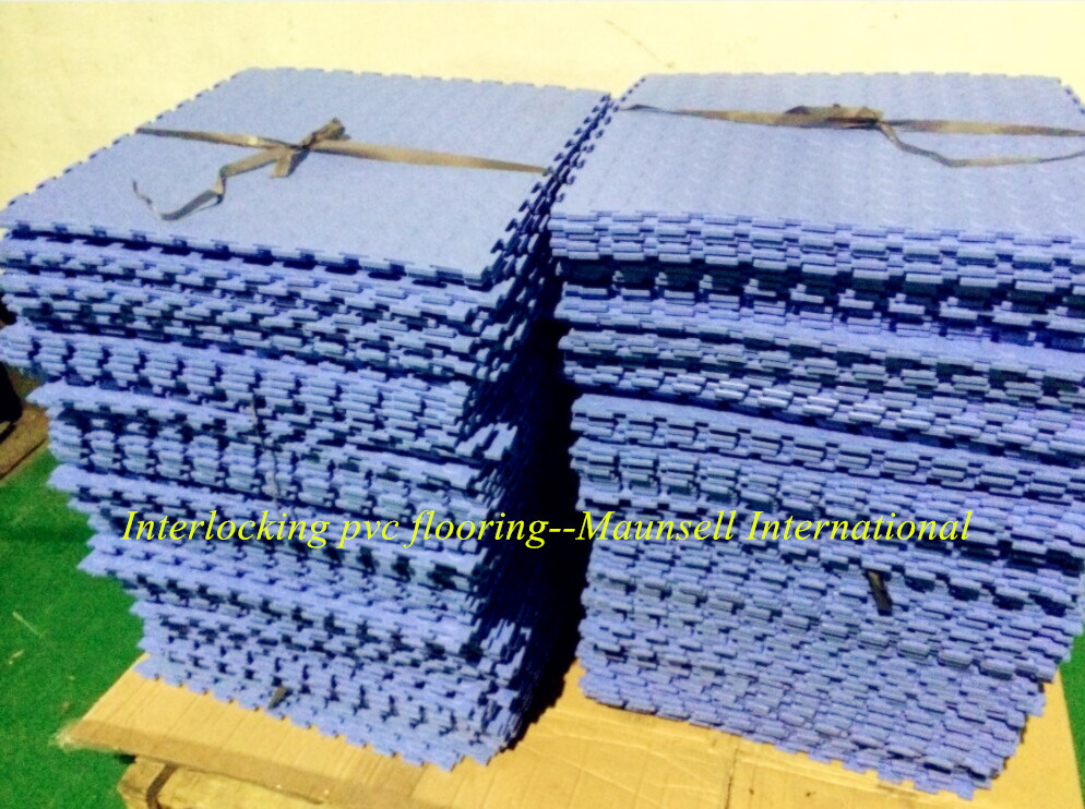 High Quality Interlocking PVC Flooring in Piece Easy to Install