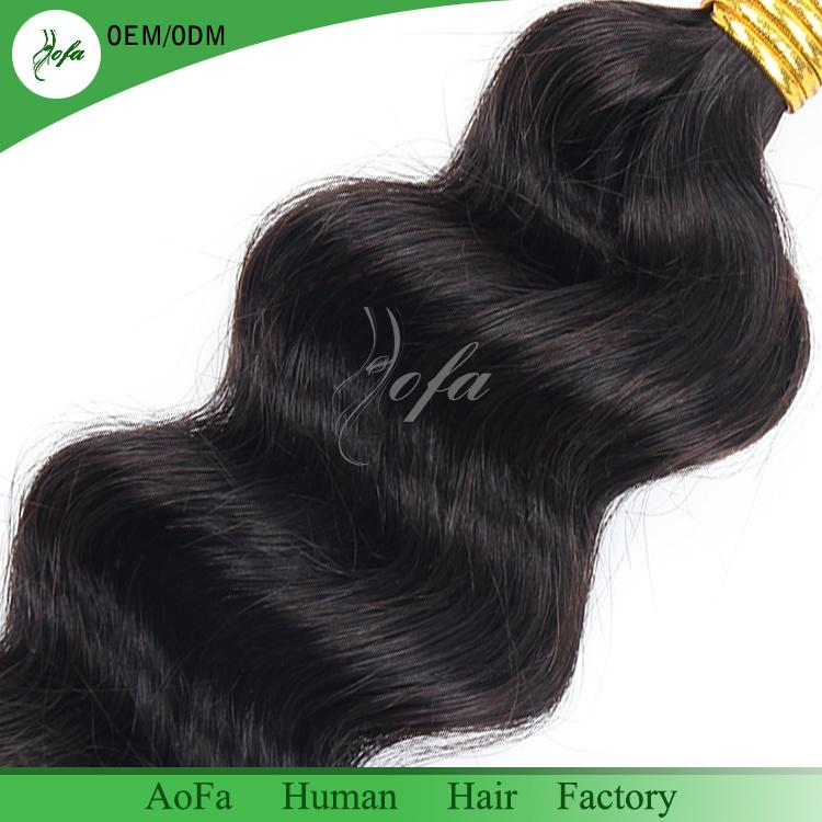 New Fashion Virgin Hair Natural Human Hair Weave