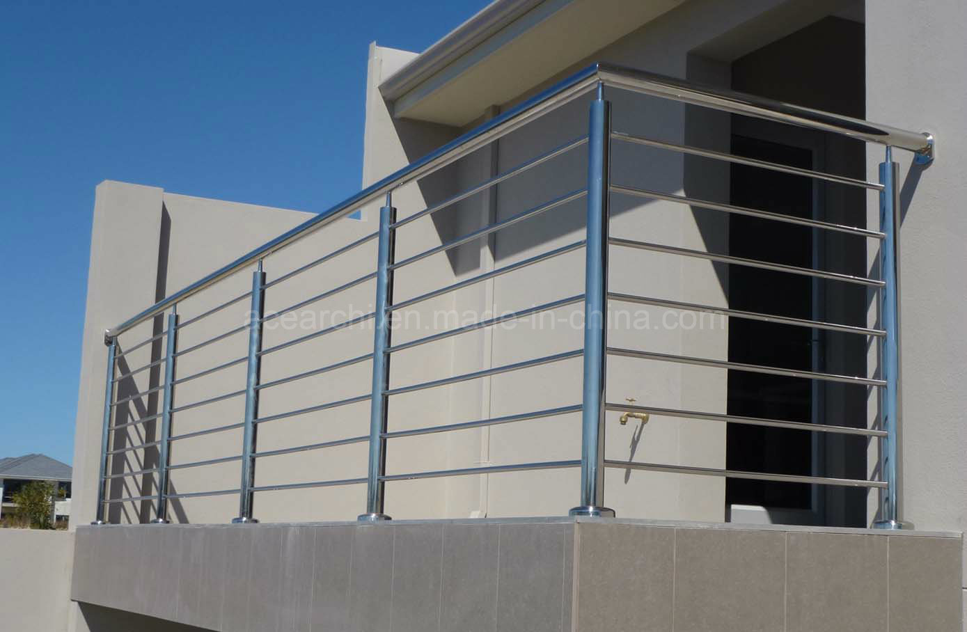 Modern Stainless Steel Rod Balustrade with America Standard for High Rise Building
