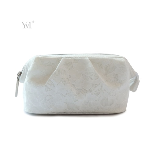 Promotional Wholesale Elegant Fashion PVC Lace Cosmetic Pouch Toiletry Bag