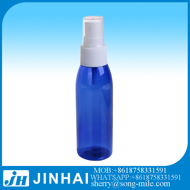 60ml Pet Plastic Fine Mist Sprayer Pump Blue Perfume Bottle