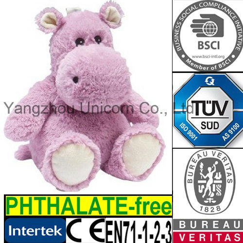 Ce Microwave Heat Bag Plush Toy Hippo