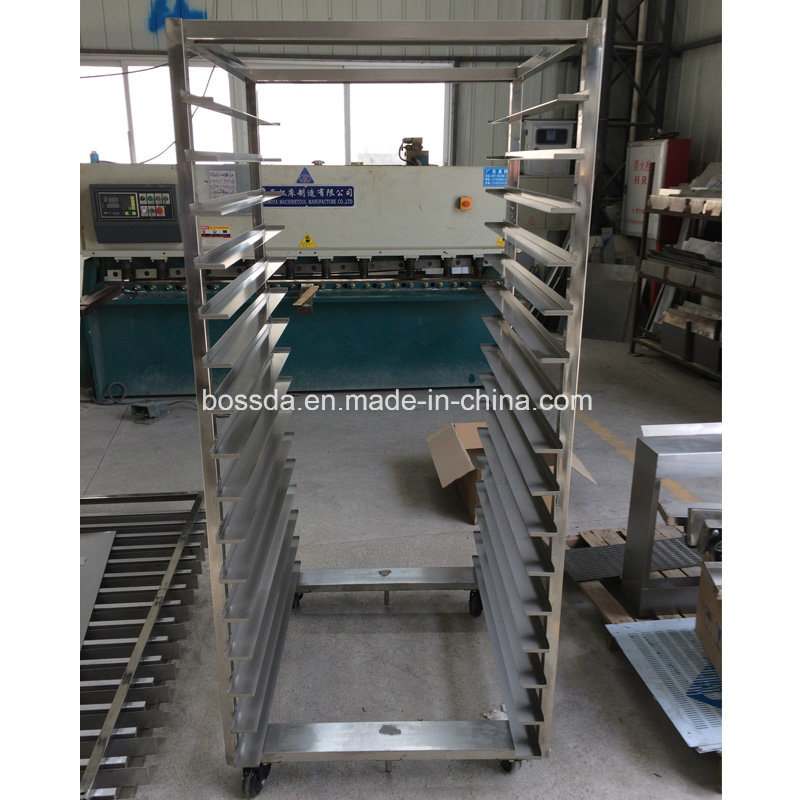64trays Hot Air Electric Rotary Rack Oven for Bakery with Trolley Frame