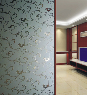 Partition Wall Glass - China Acid Etched Glass, Glass