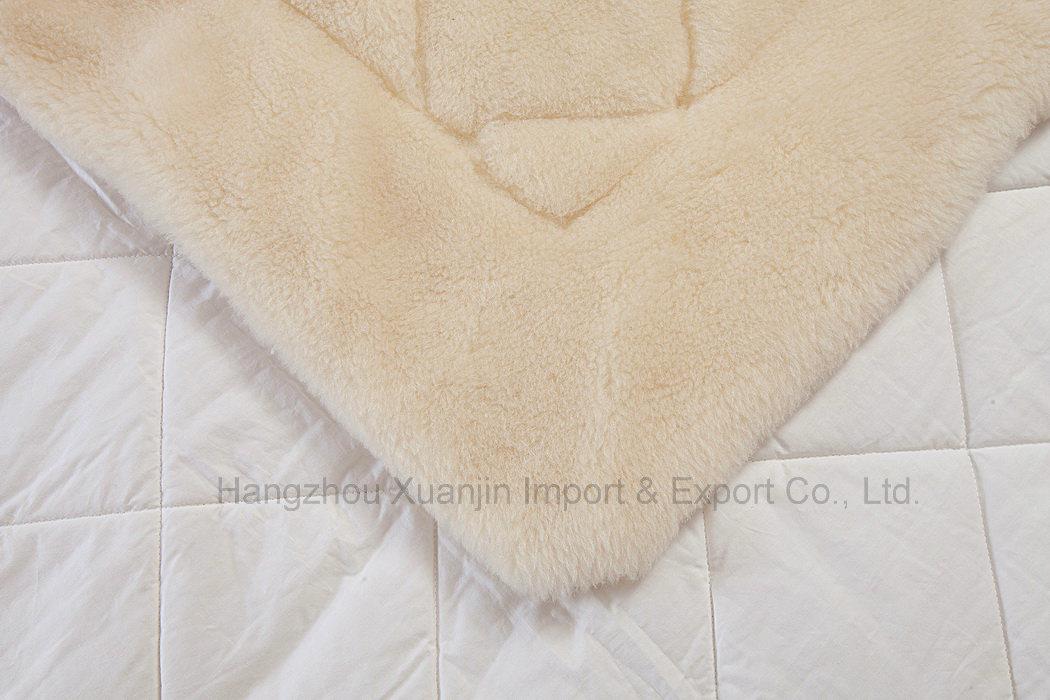 Pure Wool Fleece Reversible Mattress Topper