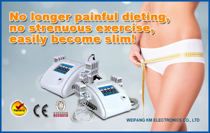 Beauty Diode Laser Slimming Machine with Cavitation RF for Fast Body Weight Loss