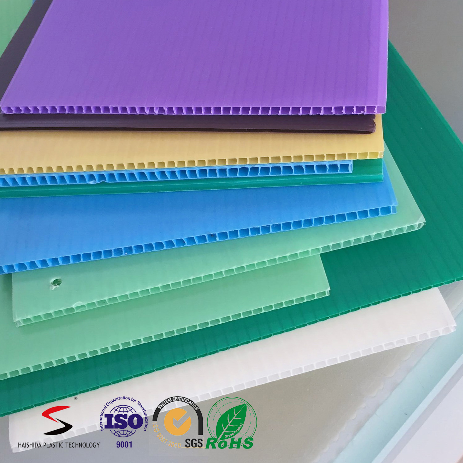 3mm Polypropylene PP Twin Wall Corrugated Plastic Sheet/ Board