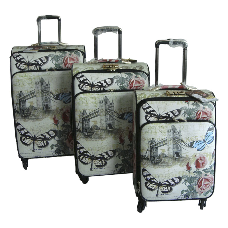 PU Luggage Trolley Case Suitcase Travel Bag Jb-D002