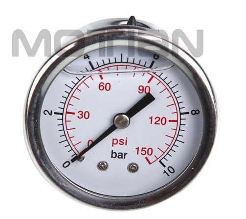 "2.5"" Glycerine Filled Stainless Steel Pressure Gauge"
