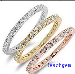 Engagement Wedding Rings Set, Silver Rings for Wedding (R90898)