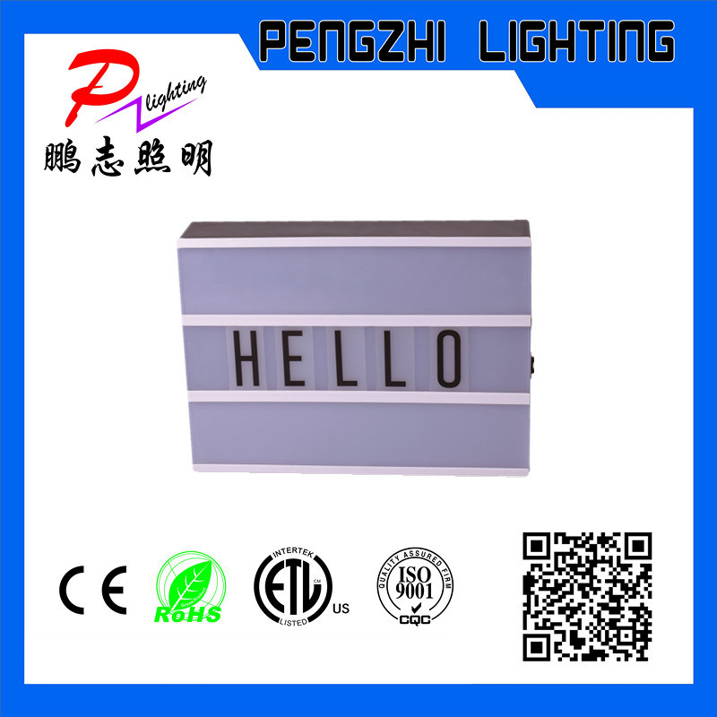 ABS Material Black and White Color LED Light Box
