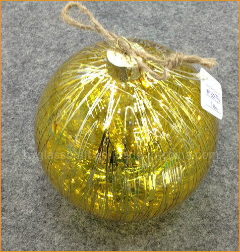 Shiny Golden Christmas Glass Ball