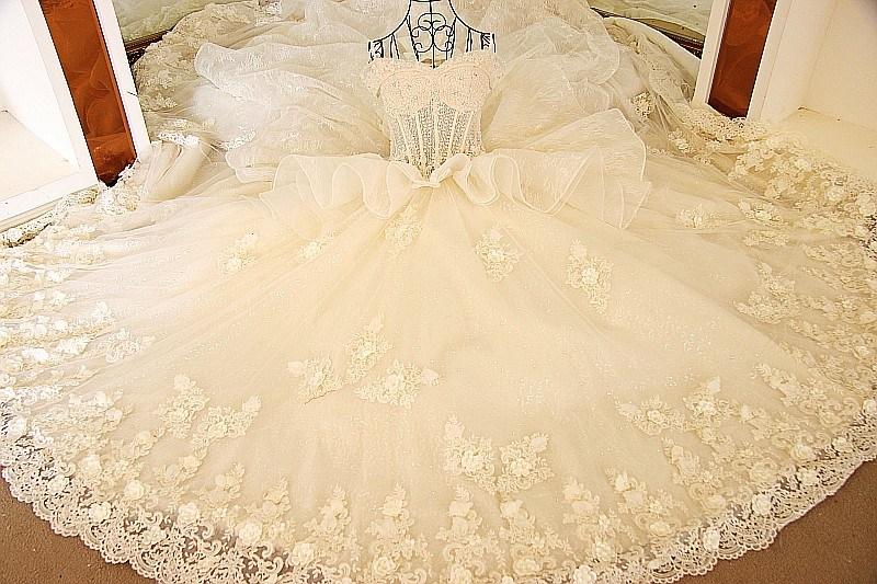 Elegant White Mermaid Strapless Open Back Floor Length Chapel Train Lace Wedding Dress 2018 (MN1001)
