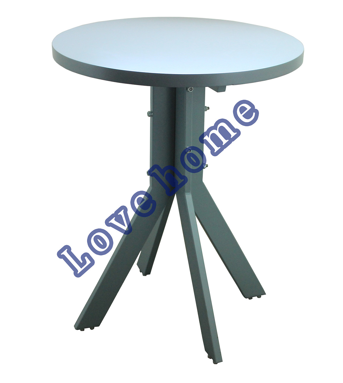 Modern Dining Restaurant Metal Leg Wooden Table