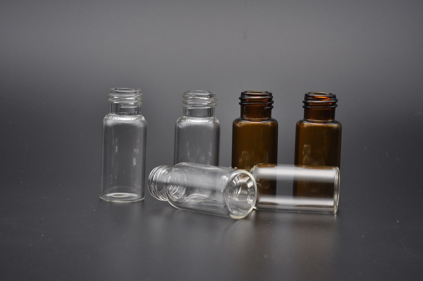5ml Clear and Amber Tubular Glass Vials