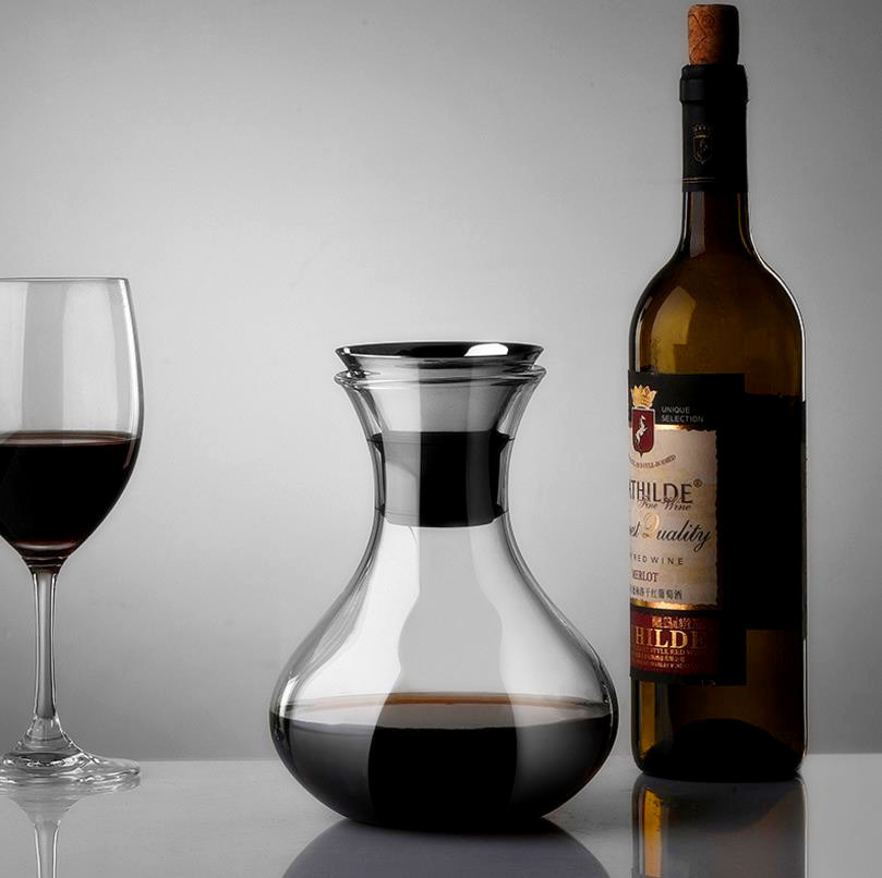 1000ml High Borosilicate Glass Red Wine Bottle Red Wine Glass