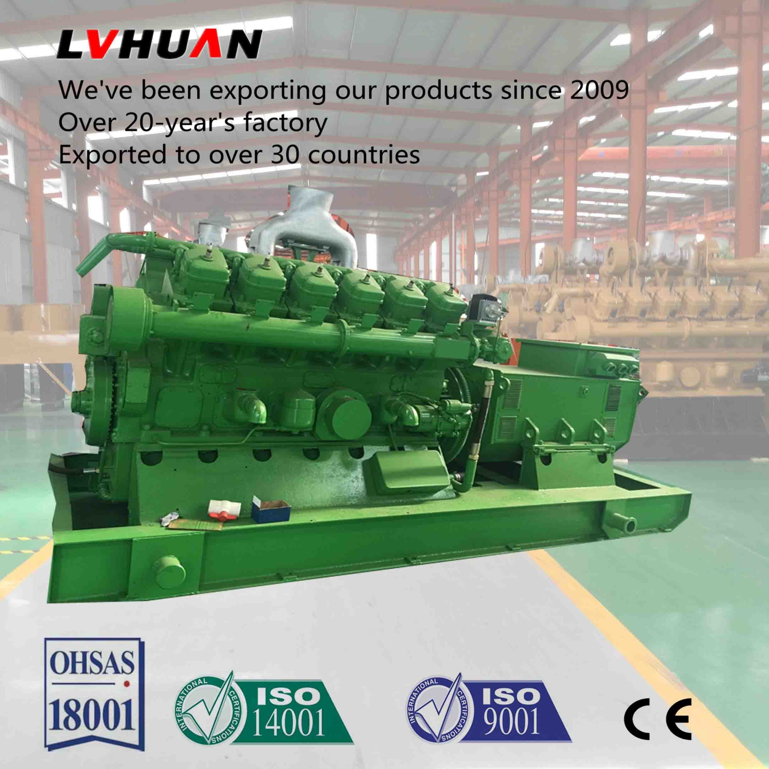 China Best Price 10 1000kw Natural Gas Generator Price List