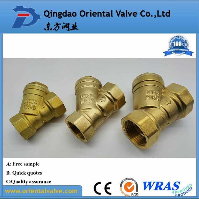High Quality, Pn10/Pn16, Thread Brass Y Type Strainer Valve, with Medium Water, Oil, Gas Strainer