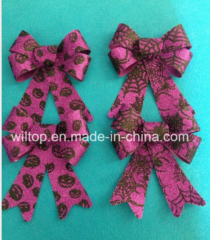 Halloween Glitter Pumpkin and Web Bow Ties (PM028)