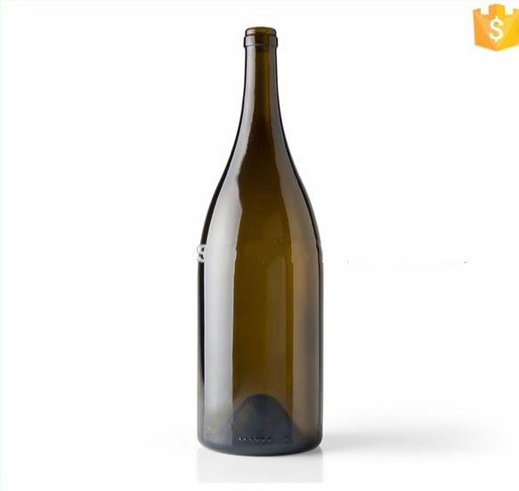 1.5 Liter Antique Green Burgundy Wine Bottle Champagne Glass Bottles