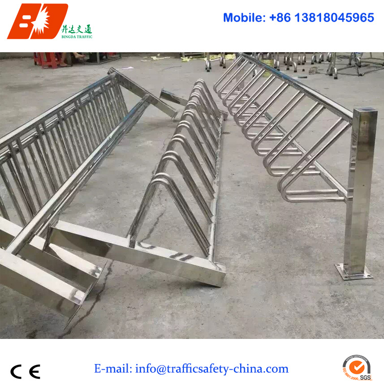Stainless Steel Vertical Column Type Bicycle Parking Stand Rack for Sale