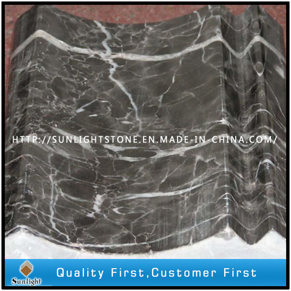 Polished Chinese Hang Grey Marble Border Line Tiles for Decorative