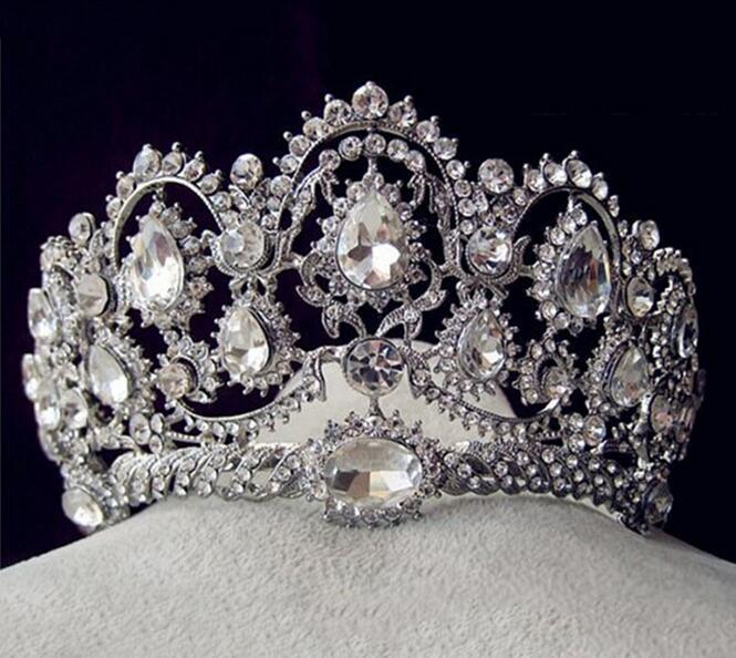 2016 Customized Crystal Crown Wedding Rhinestone Tiaras Bridal Crown (TA-001)