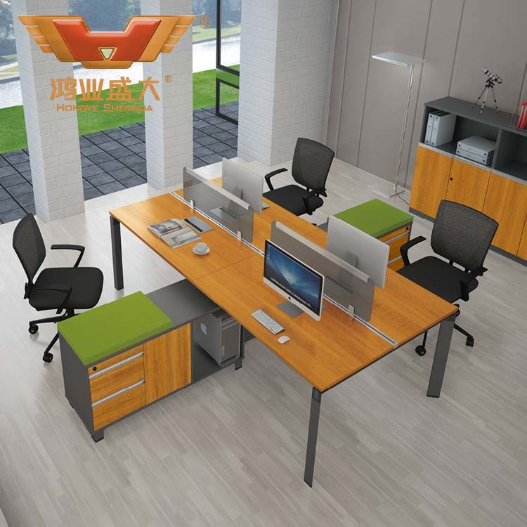 Modern Bamboo Venner Computer Desk Modular Office Desk for Morden Manager Table Work Bench (H50-0210)