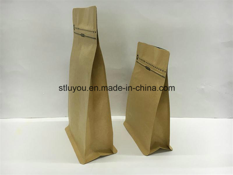 Stand up Zipper Flat Bottom Coffee Bag with Valve