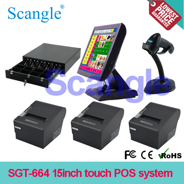 Stylish 15′′ All in One Capacitive Touch Screen POS Computer