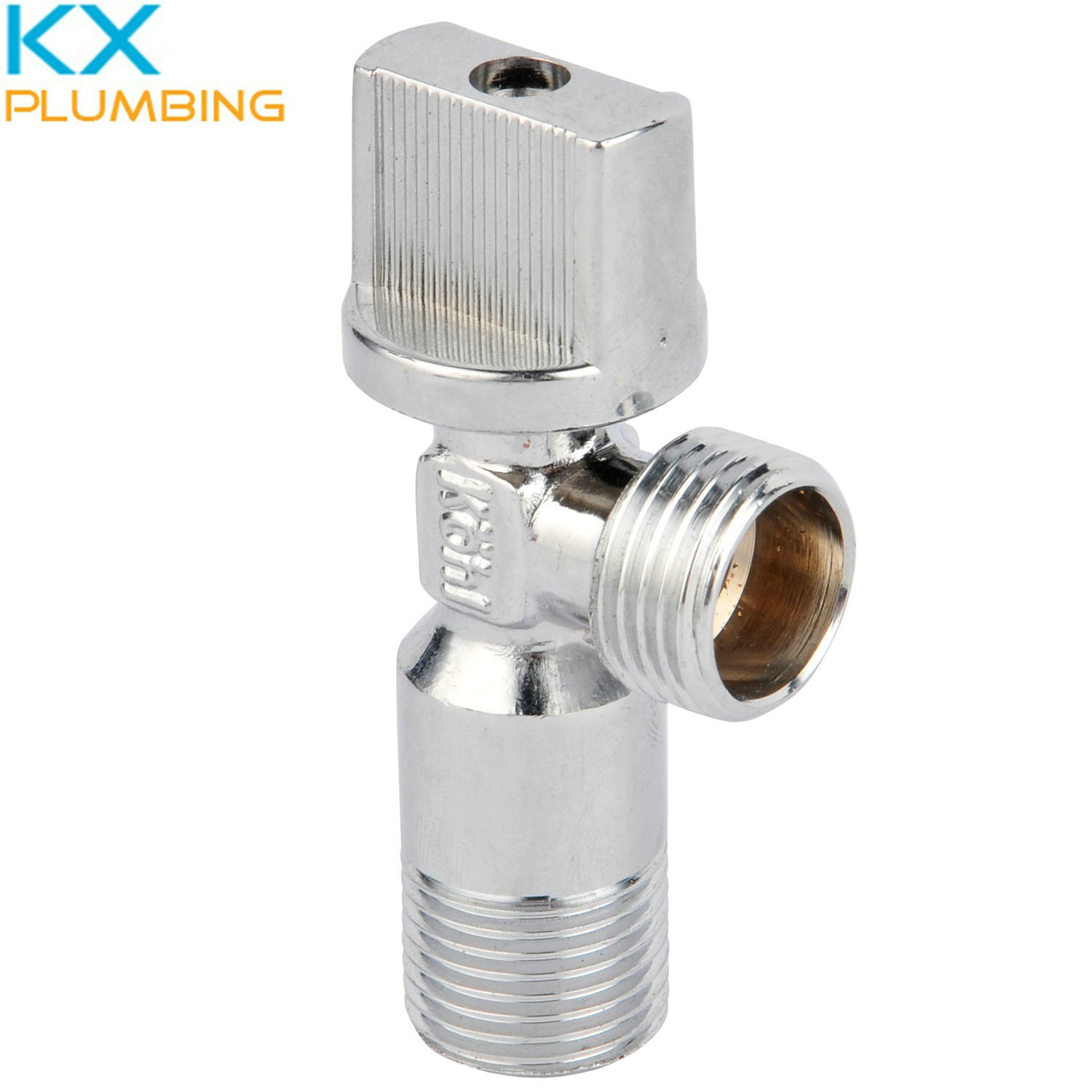 """Brass Angle Valve 1/2"""" with Plastic Handle"""