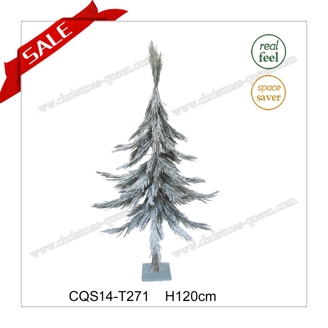 2017 Hottest Plastic Artificial Christmas Tree with Snow H120-180cm
