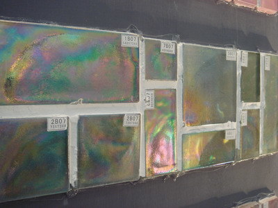 Handmade Iridescent Glass Tile (B07)