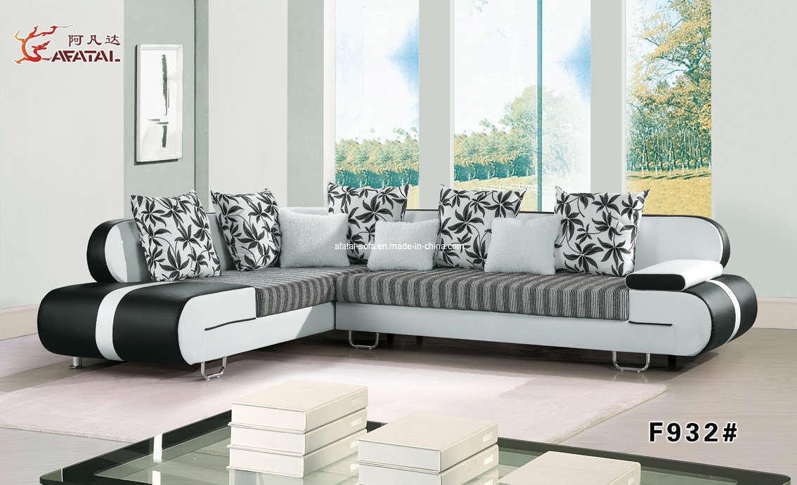 China living room furniture modern chaise sofa f932 china sofa fabric sofa - Modern living room furniture set ...