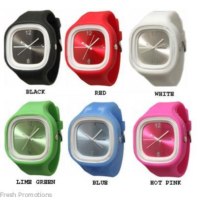 Different Color Silicone Rubber Watch