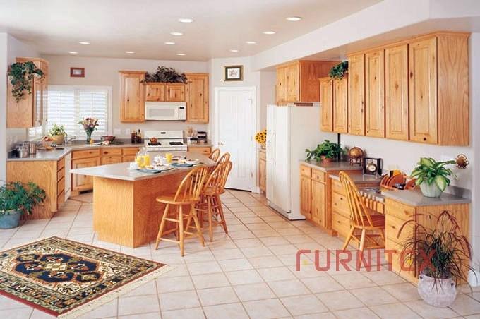 American Wooden Kitchen Cabinet Knotty Birch China Wooden Kitchen