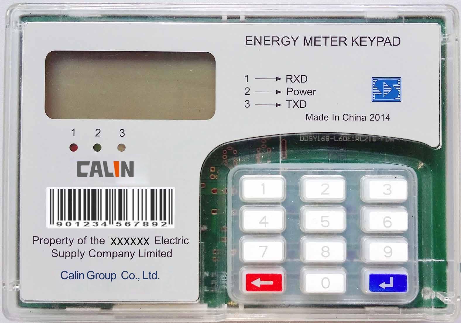 DIN Rail Mounting Kwh Keypad Split Prepaid/Prepayment Electrical Energy Meter