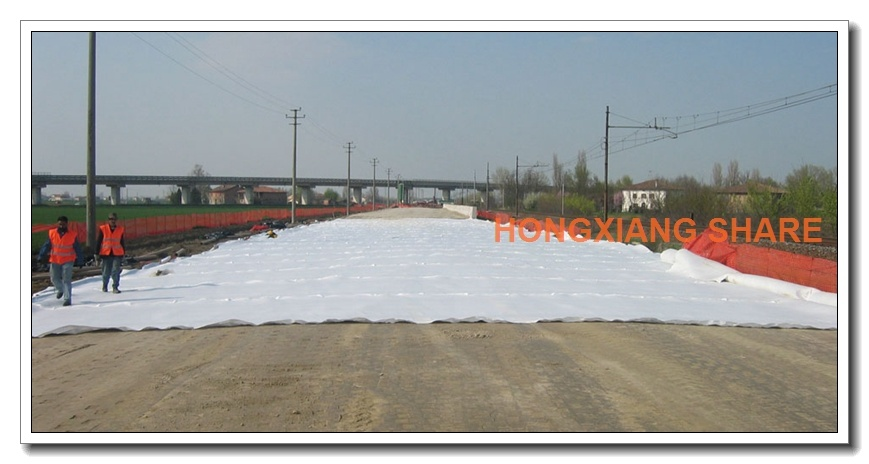 Thermal Bonded Non-Woven Geotextile for Road Railway Tunnel Canel Projects