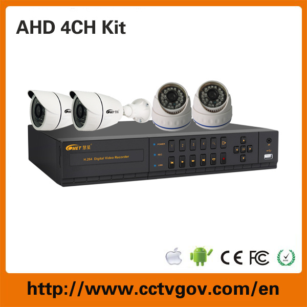 1.3MP Ahd Camera 4CH Ahd Hybrid DVR Kit