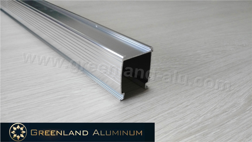 Anodized Silver Aluminium Braketing Curtain Track for Honeycomb Shade