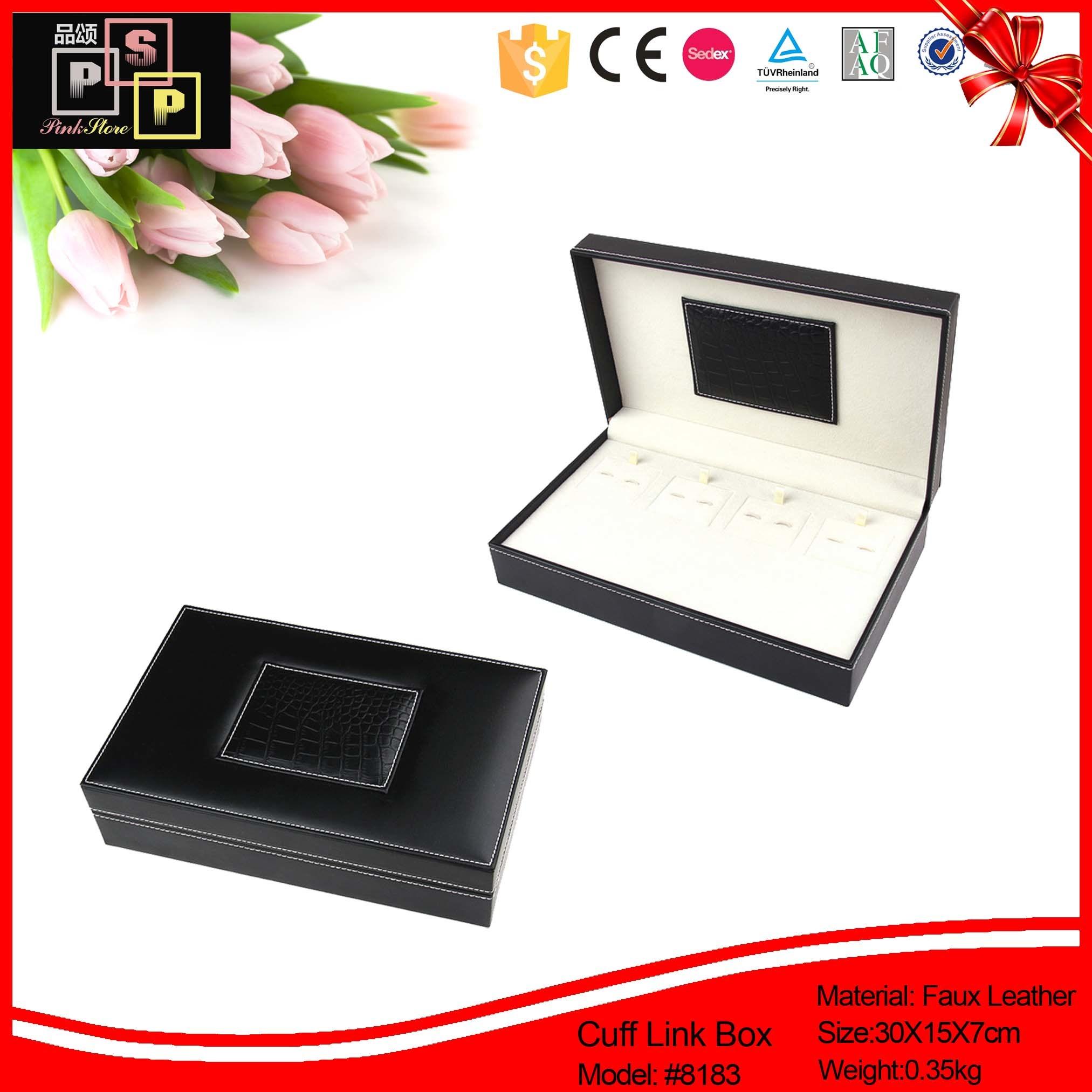 Black Croco Leather Jewelry Storage Suitcase (1513)