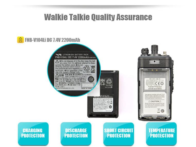 Vertex Fnb-V104L Two-Way Radio Li-ion Battery for Vx231